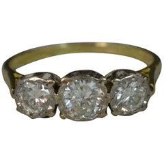 1.25 Carat Diamond 18 Caratt Gold Trilogy Engagement Ring