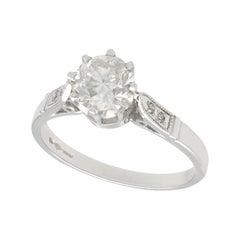 1.25 Carat Diamond and Platinum Solitaire Engagement Ring