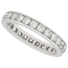 1.25 Carat Diamond and White Gold Full Eternity Ring, Vintage, circa 1970