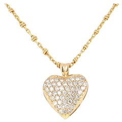 1.25 Carat Diamond Pave Pendant Necklace