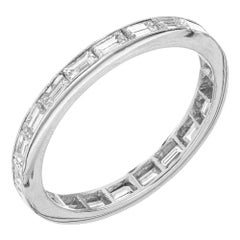 1.25 Carat Diamond Platinum Wedding Band Ring