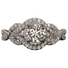 1.25 Carat Engagement Ring Split Shank