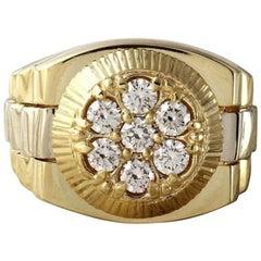 1.25 Carat Natural Diamond 14 Karat Solid Yellow Gold Men's Ring