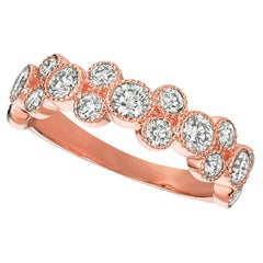 1.25 Carat Natural Diamond Ring G SI 14 Karat Rose Gold