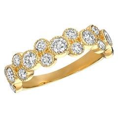 1.25 Carat Natural Diamond Ring G SI 14 Karat Yellow Gold