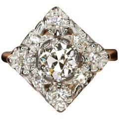 1.25 Carat Old Diamond Ring