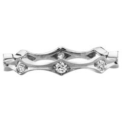Handcrafted Diana Old European Cut Diamond Eternity Band by Single Stone