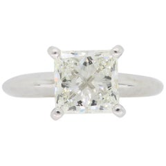 1.25 Carat Princess Cut Solitaire Diamond Engagement Ring