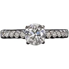 1.25 Carat Round Brilliant Cut Solitaire Diamond Ring