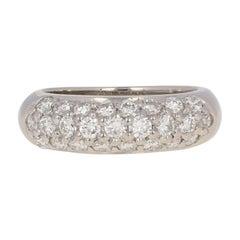 1.25 Carat Round Brilliant Diamond Ring, Platinum Womens