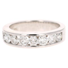 1.25 Carat Round Cut Diamond 14 Karat White Gold Band