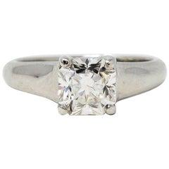 1.25 Carat Tiffany & Co. Lucida Cut Solitaire Diamond Platinum Engagement Ring