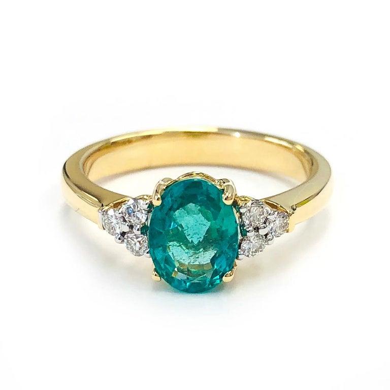 1 25 Carat Zambian Emerald And 0 18 Carats Diamond 14
