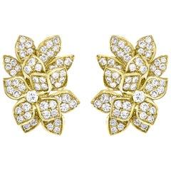 12.5 Carat Diamond VS Quality Clip Earrings Women in 18 Karat Gold 27 Grams