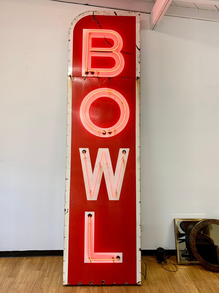 12.5 Foot Tall Vintage Neon Bowling Sign For Sale 5