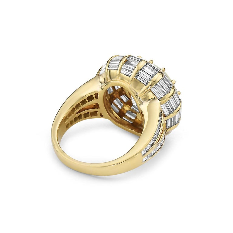 12.50 Carat Round Brilliant Diamond Cocktail Ring by Nardi In Good Condition In New York, NY