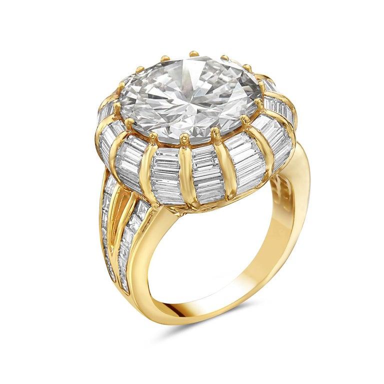 Women's or Men's 12.50 Carat Round Brilliant Diamond Cocktail Ring by Nardi