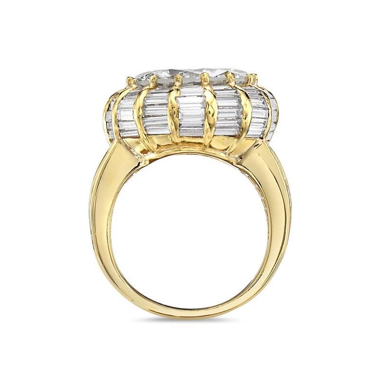 12.50 Carat Round Brilliant Diamond Cocktail Ring by Nardi 1