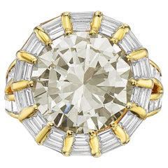 12.50 Carat Round Brilliant Diamond Cocktail Ring by Nardi