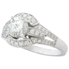 1.26 Carat Diamond and White Gold Cocktail Ring / Engagement Ring