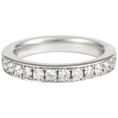 1.26 Carat Diamond Eternity Band 18 Karat White Gold