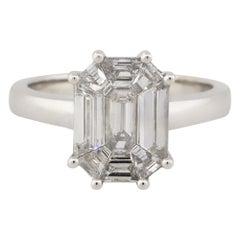1.26 Carat Diamond Solitaire Octagonal Ring 18 Karat in Stock