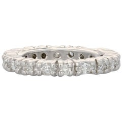 1.26 Carat Marquise Diamond Wedding Band, 14k White Gold Women's Eternity Ring