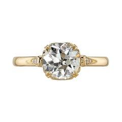 1.26 Carat Old European Cut Diamond Set in a Yellow Gold Engagement Ring