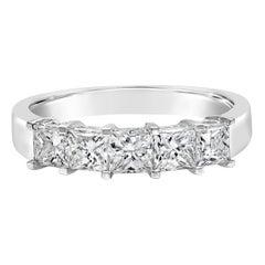 Roman Malakov 1.26 Carat Princess Cut Diamond Five-Stone Wedding Band
