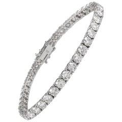 Alexander 12.60 Carat Diamond Tennis Bracelet 18 Karat White Gold
