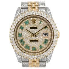 12.61 Carat Rolex 116233 Datejust Two-Tone Diamond Pave Watch