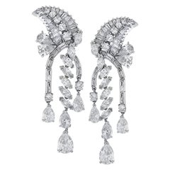 12.65 Carat Diamond Dangle Earrings