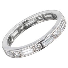 1.27 Carat Diamond Platinum Wedding Band Ring