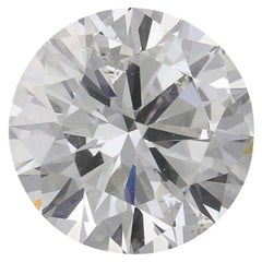 1.27 Carat Loose Diamond, Round Brilliant Cut GIA Graded Solitaire SI1 G