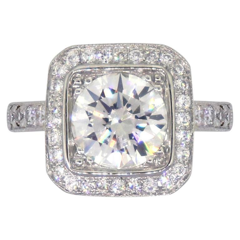 1.27 Carat Round Brilliant Diamond Engagement Ring