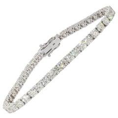 12.70 Carat Diamond Tennis Bracelet in White Gold