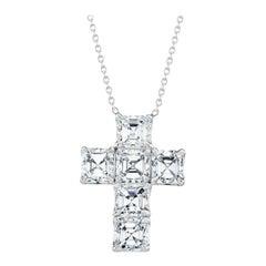 1.28 Carat Asscher Cut Diamond Cross