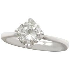 1.28 Carat Diamond and Platinum Solitaire Engagement Ring