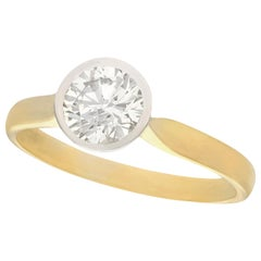 1.28 Carat Diamond and Yellow Gold Solitaire Engagement Ring