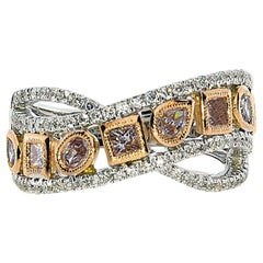 1.28 Carat Natural Pink Diamond Fashion Diamond Ring