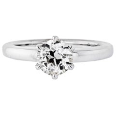 1.28 Carat Old European Cut Diamond L/SI2 GIA Solitaire Engagement Ring