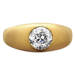 1.29 Carat Old European Cut Diamond Set with 22ct Satin-Finish Gold by Hancocks