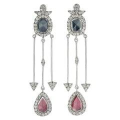 1.29 Carat Rosecut Diamond 18 Karat Gold Earrings