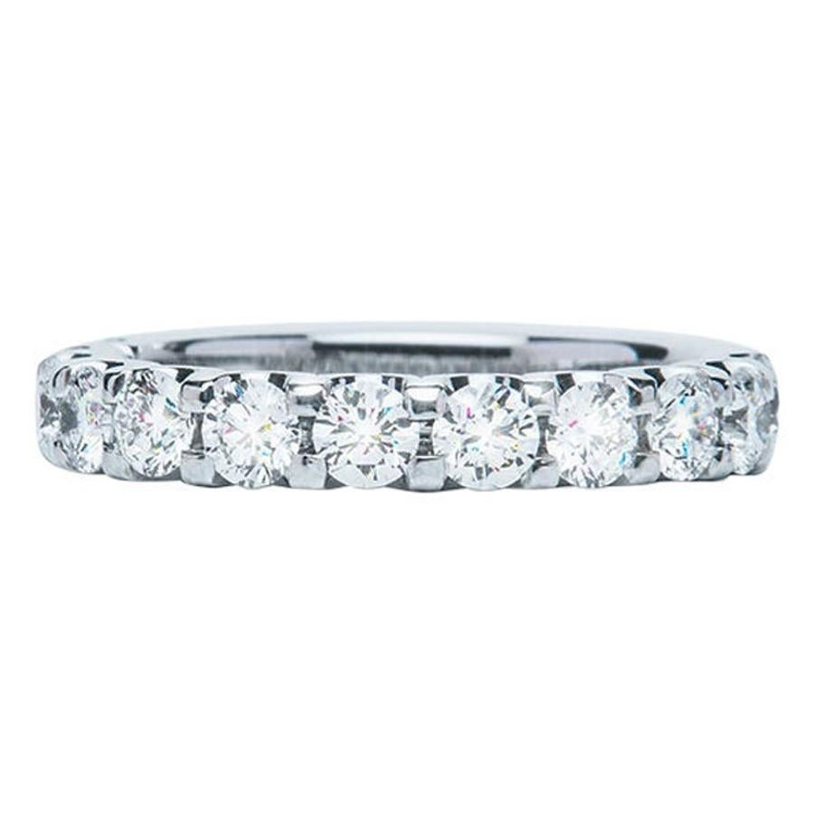 1.29 Carat Round White Diamond F VS Scalloped Claw Set Ring Natalie Barney
