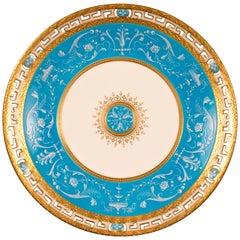 13 Antique Minton Pate-sur-Pate Bleu Celeste Plates