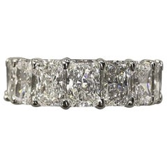 13 Carat Cushion Cut Diamond Eternity Platinum Band