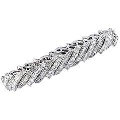 13 Carat Diamond Bracelet, circa 1960s