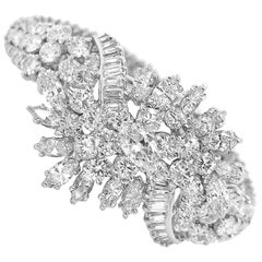 13 Carat Diamond Bracelet with Cluster Diamond in Center