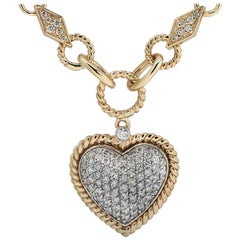 1.3 Carat Diamond Heart Necklace