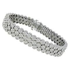 13 Carat Round Cut Diamond Gold Bracelet